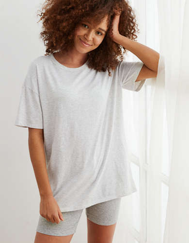 Aerie Oversized Distressed Boyfriend T-Shirt