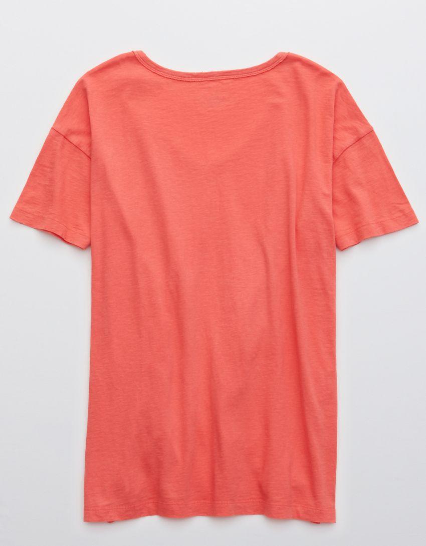 Aerie Distressed V-Neck Boyfriend T-Shirt