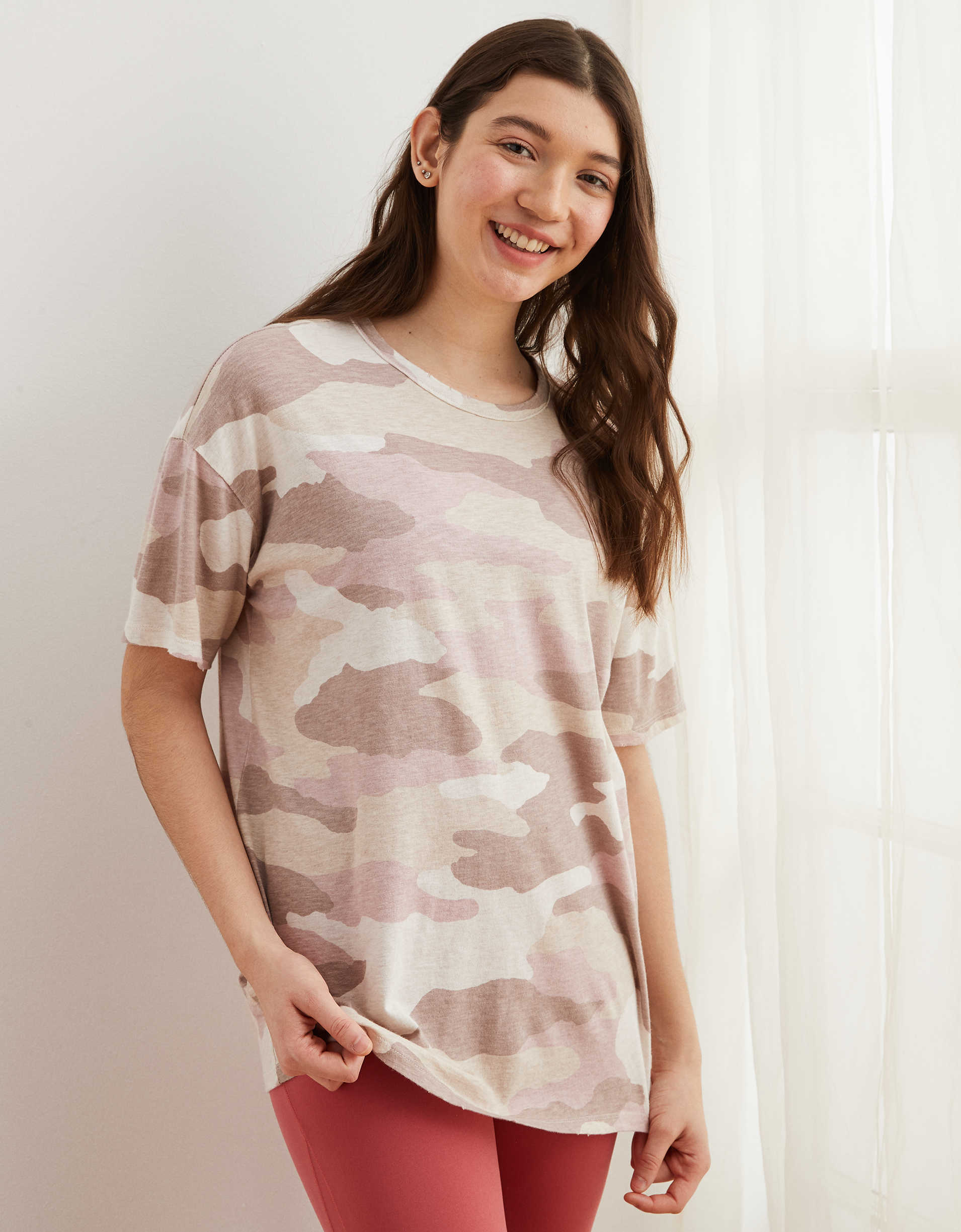 Aerie Boyfriend Distressed Oversized T-Shirt