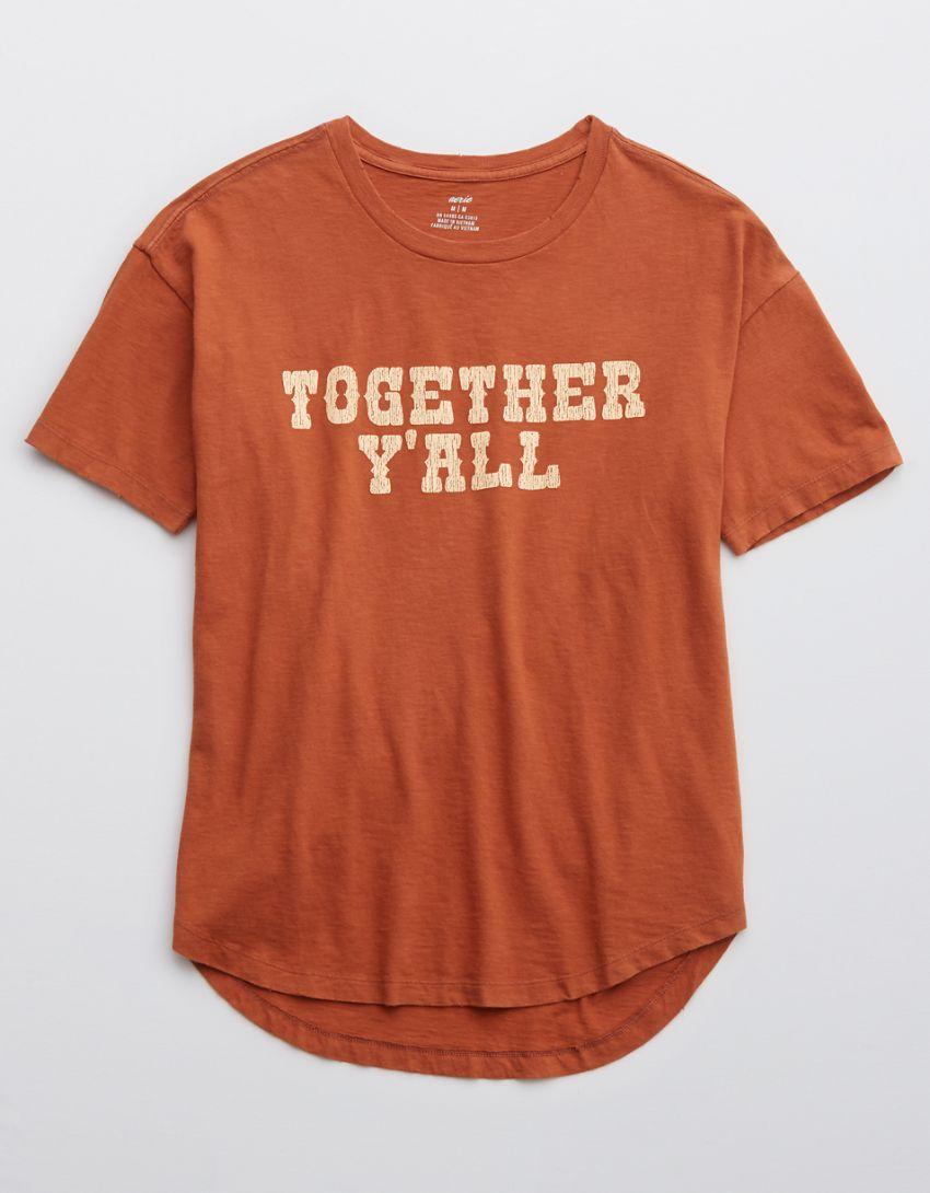 Aerie Distressed Boyfriend T-Shirt