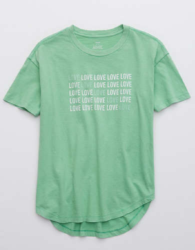 Aerie Love Graphic Distressed Boyfriend T-Shirt