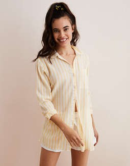 Aerie Striped Button Down Shirt