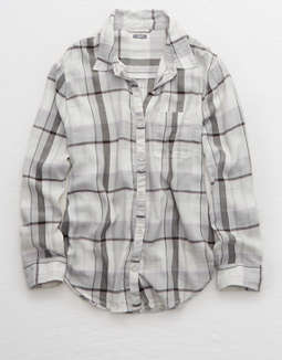 Aerie Camp Flannel Button Down Shirt by American Eagle Outfitters