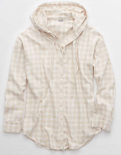 Aerie Flannel Hooded Shirt