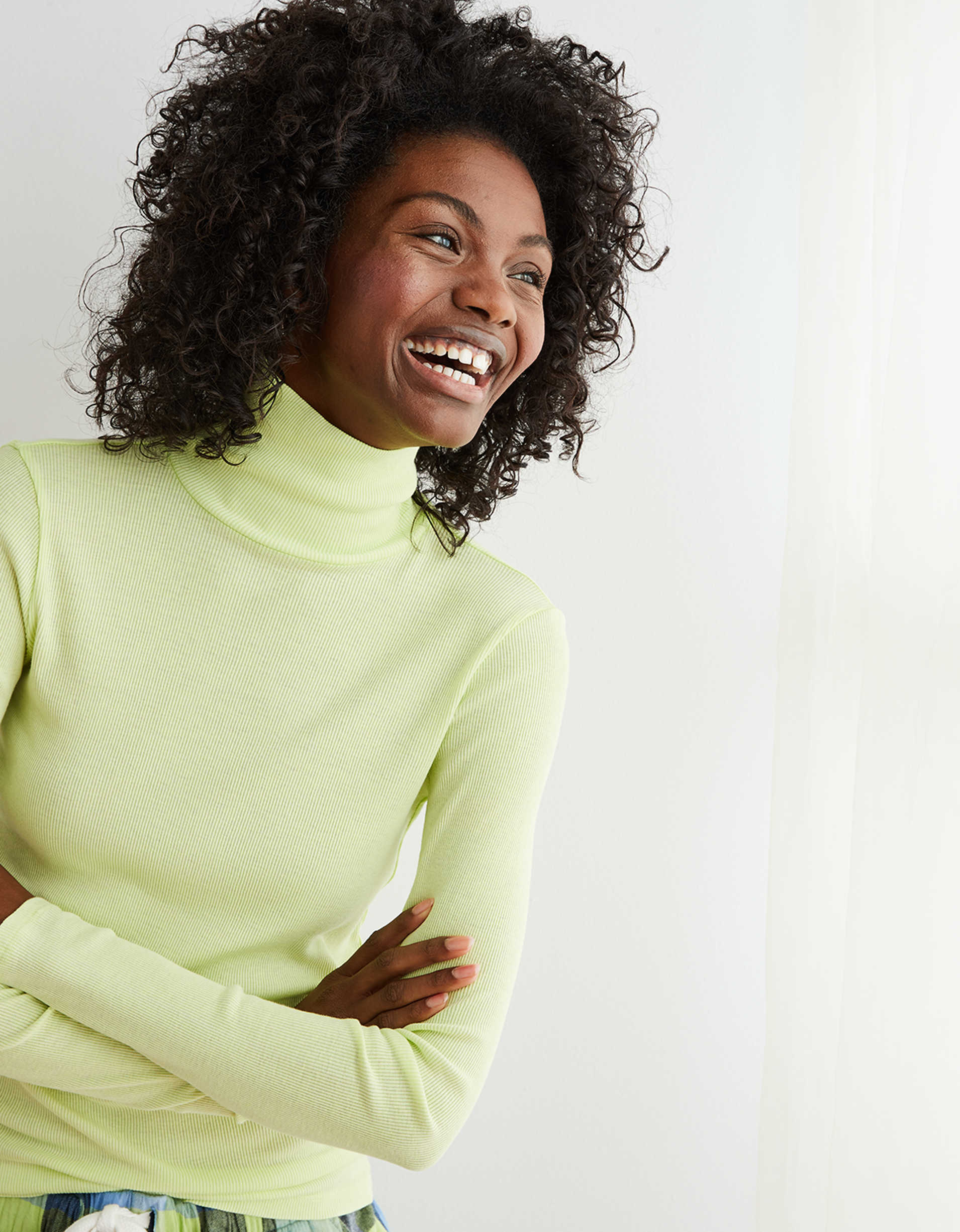 Aerie Long Sleeve Ribbed Turtleneck