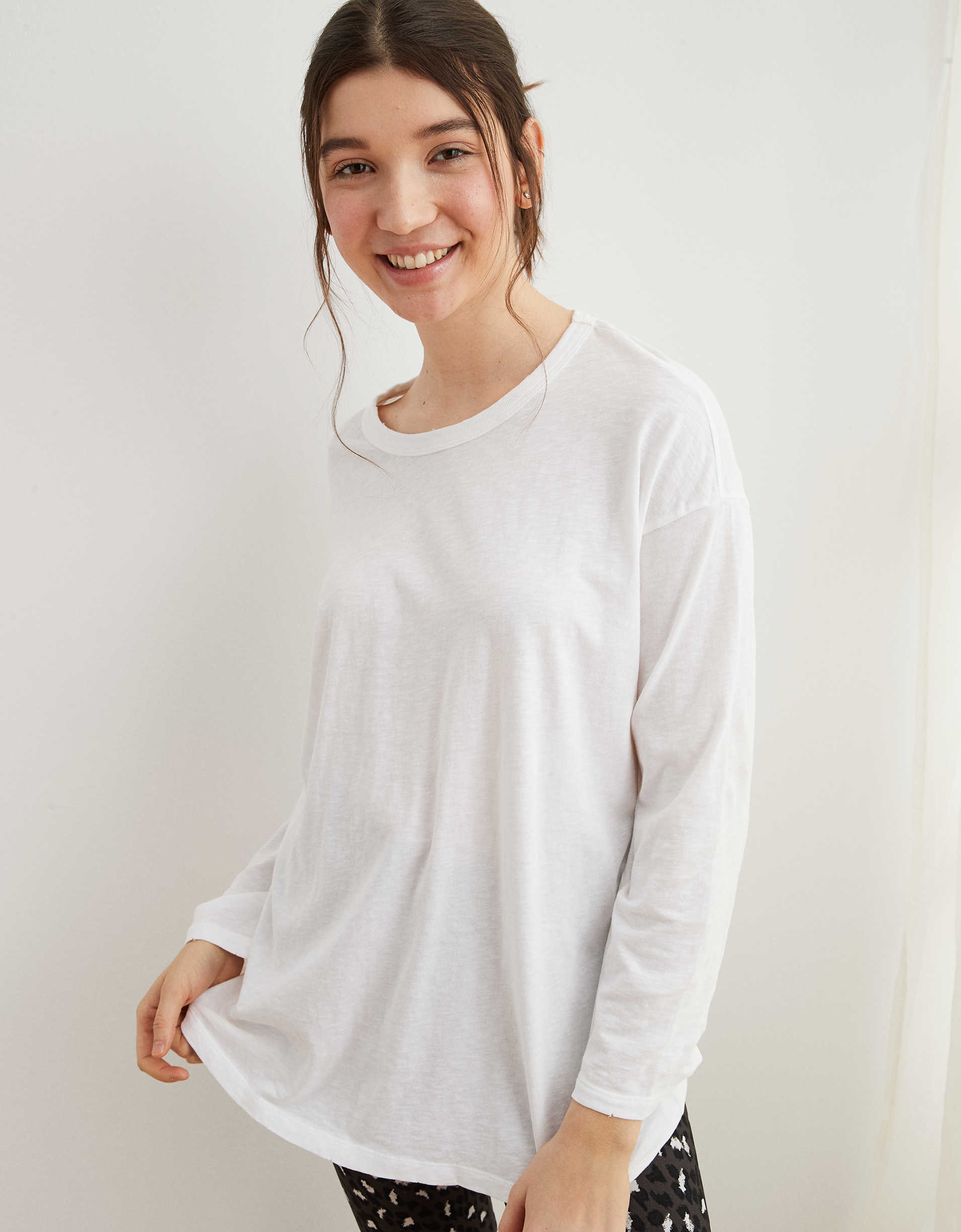 Aerie Boyfriend Oversized Long Sleeve T-Shirt