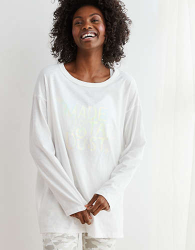 Aerie Oversized Long Sleeve Boyfriend T-Shirt