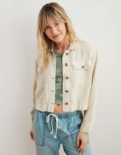 Aerie Twill Cropped Jacket