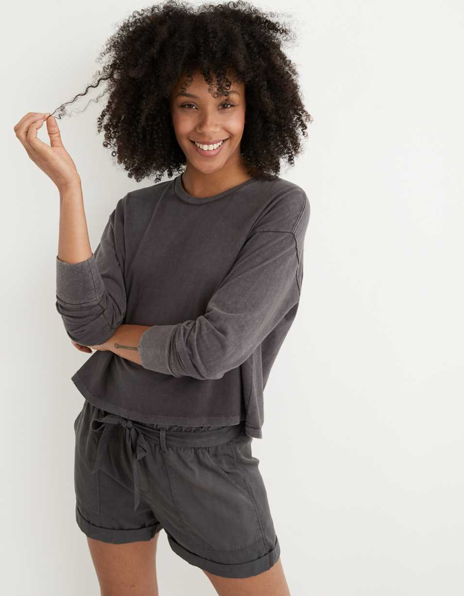 Aerie Boyfriend Long Sleeve Cropped T-Shirt