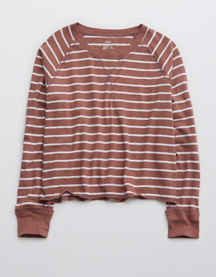 Aerie Long-Sleeve Cropped Oversized T-Shirt
