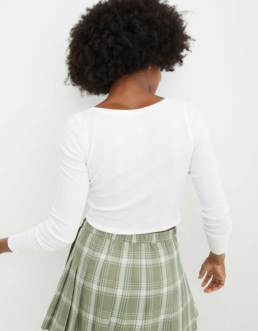 Aerie Ribbed Square Neck T-Shirt