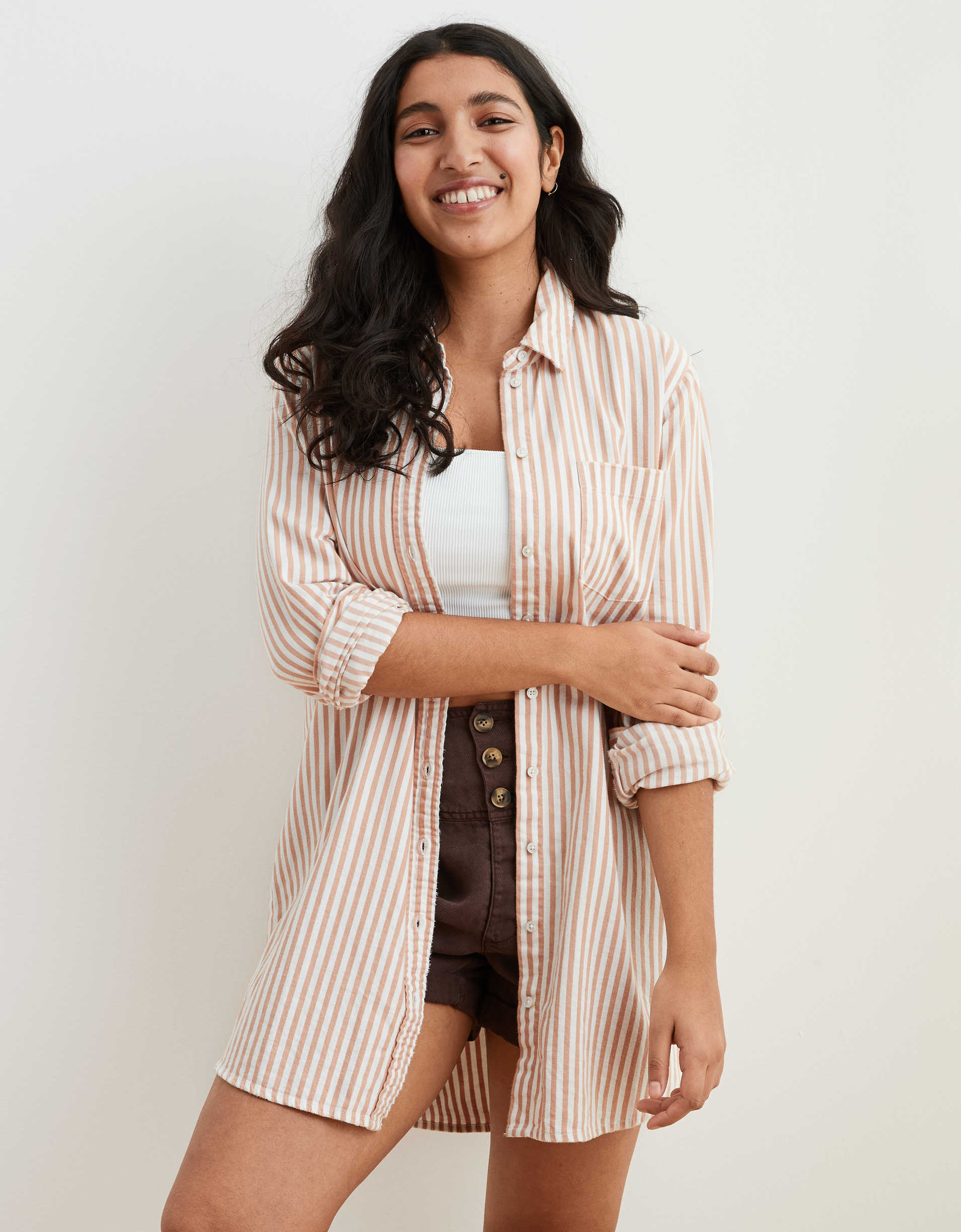 Aerie Long Sleeve Button Down Shirt