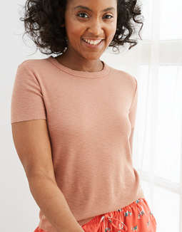 Aerie Ribbed Baby T-Shirt