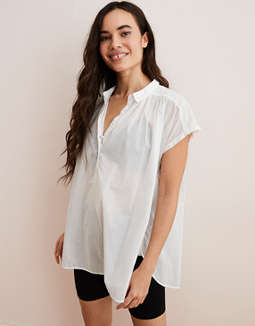 Aerie Woven Popover Shirt