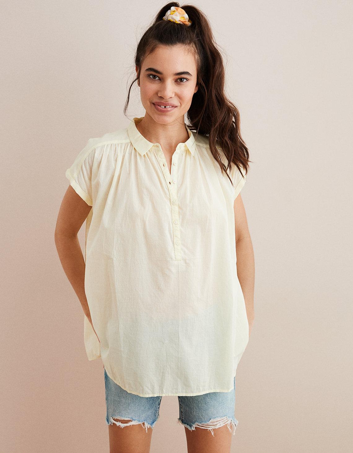 Aerie Woven Popover Shirt