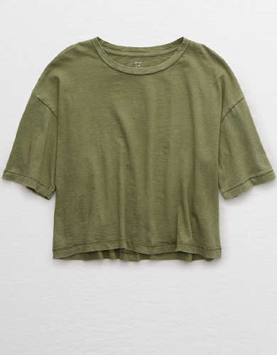 Aerie Boyfriend Cropped Oversized T-Shirt