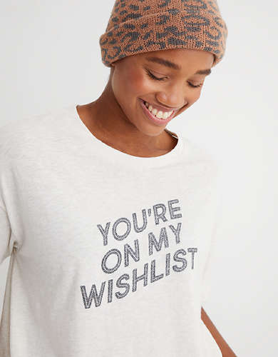 Aerie Cropped Crewneck T-Shirt