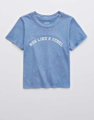 Aerie Run Like A Rebel Graphic Oh Baby! T-Shirt