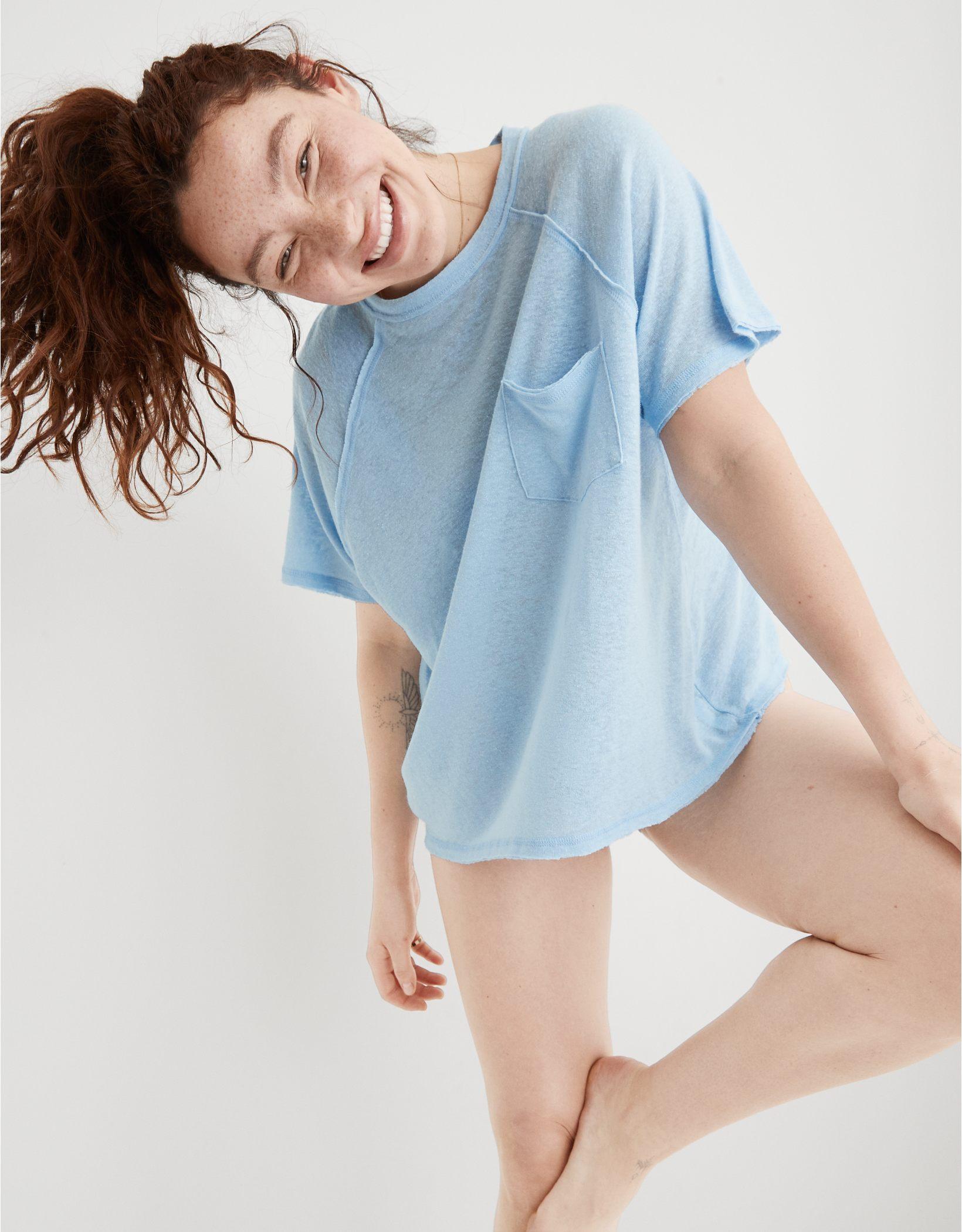 Aerie Breezy Linen T-Shirt