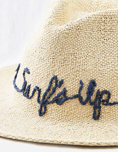Aerie Embroidered Panama Hat