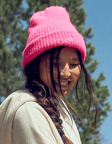 Aerie Ribbed Neon Beanie Hat