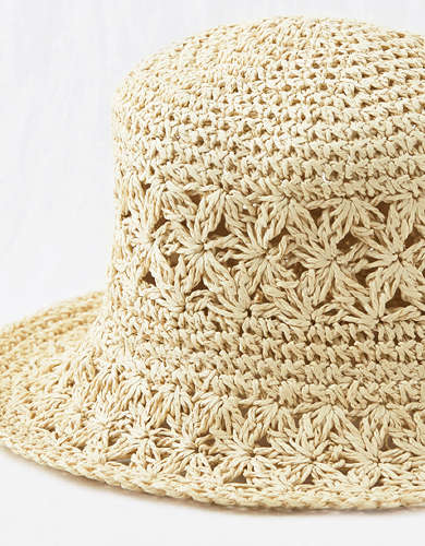 Aerie Crochet Bucket Hat