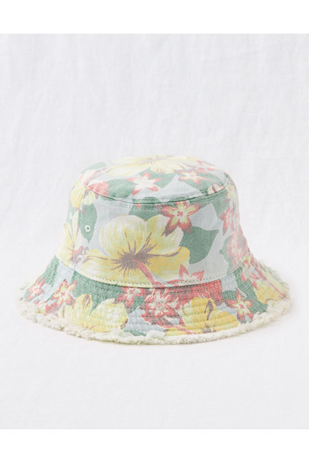 Women's Vintage Hats | Old Fashioned Hats | Retro Hats Aerie Bucket Hat Womens Multi One Size $11.97 AT vintagedancer.com