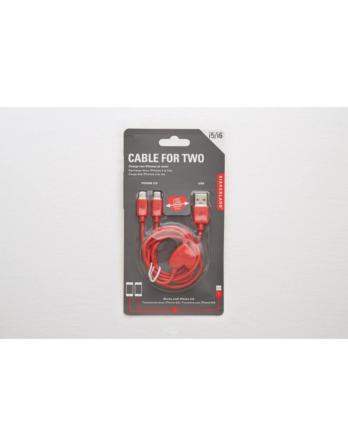 Kikkerland® Cable for Two