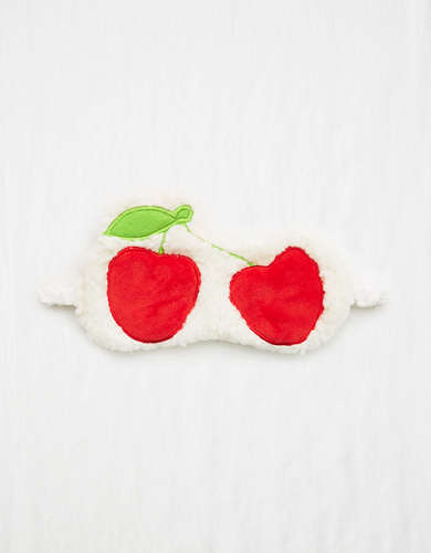 Aerie Plush Cherry Sleep Mask