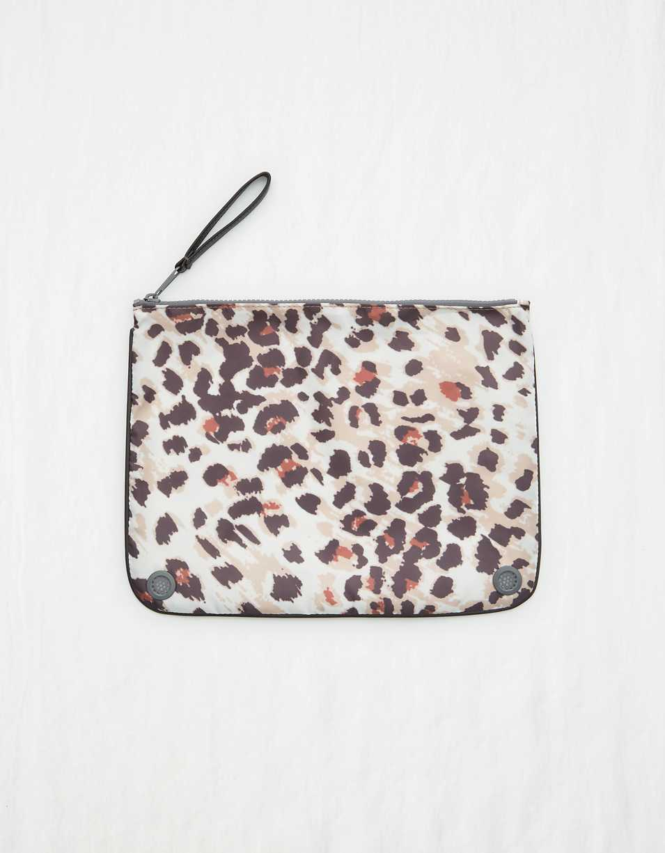 Aerie Animal Print Bikini Bag