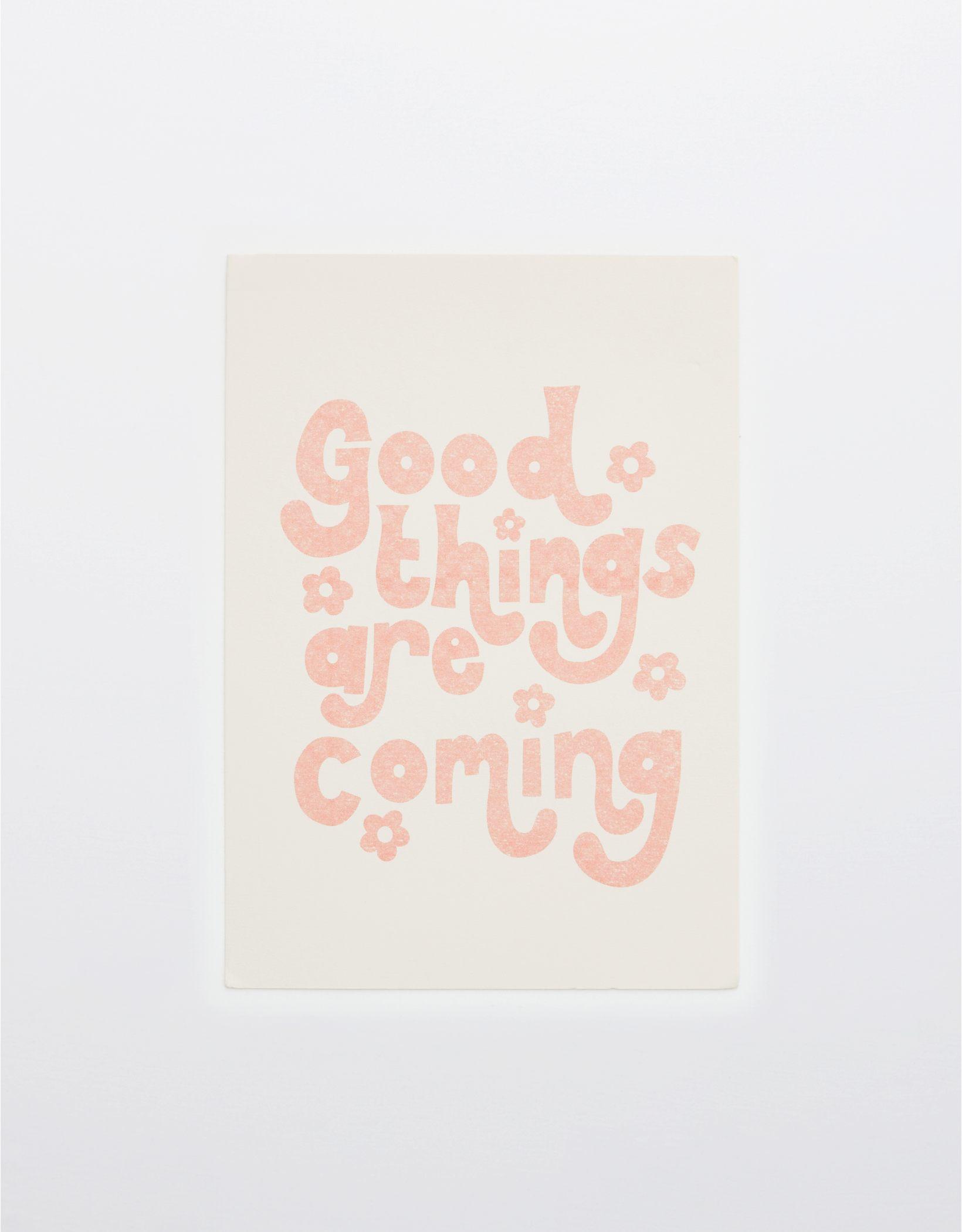Oh Deer Good Things Are Coming Art Print