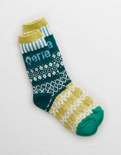 Aerie Fair Isle Crew Socks - Buy One, Get One 50% Off