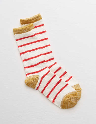 Aerie Striped Crew Socks -