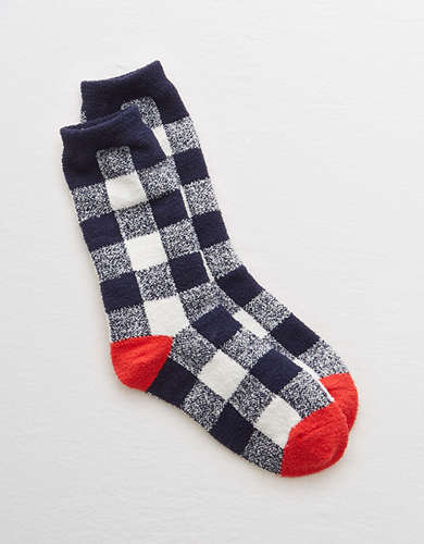 Aerie Buffalo Check Crew Socks -
