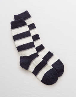 Aerie Lurex Striped Crew Socks