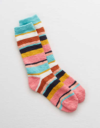 Aerie Striped Crew Socks