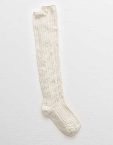 Aerie Over The Knee Pointelle Socks