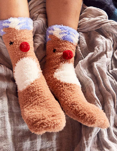 Aerie Fuzzy Gifting Socks 2-Pack