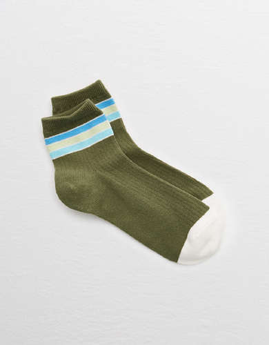 Aerie Striped Midi Socks