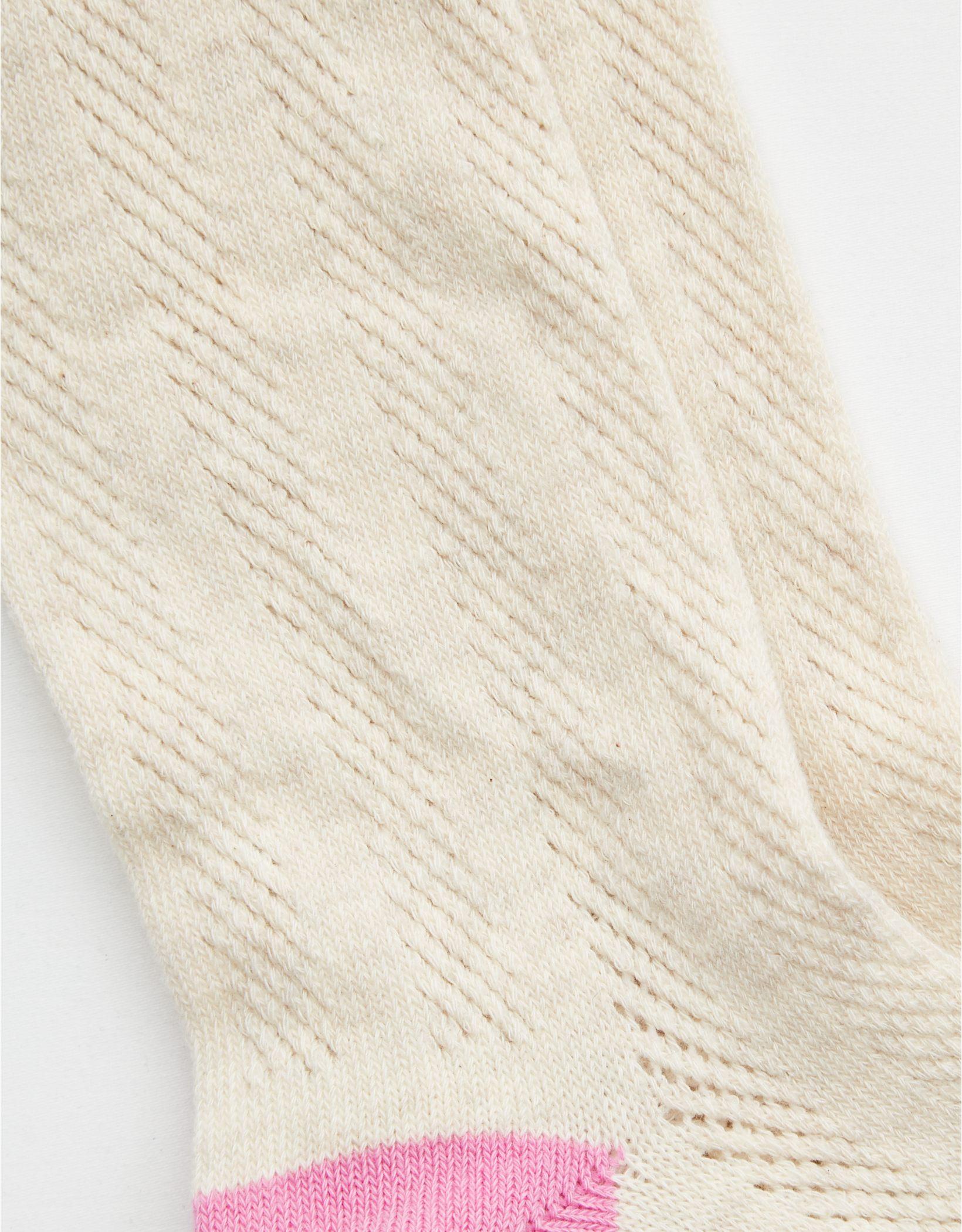 Aerie Pointelle Heathered Crew Socks