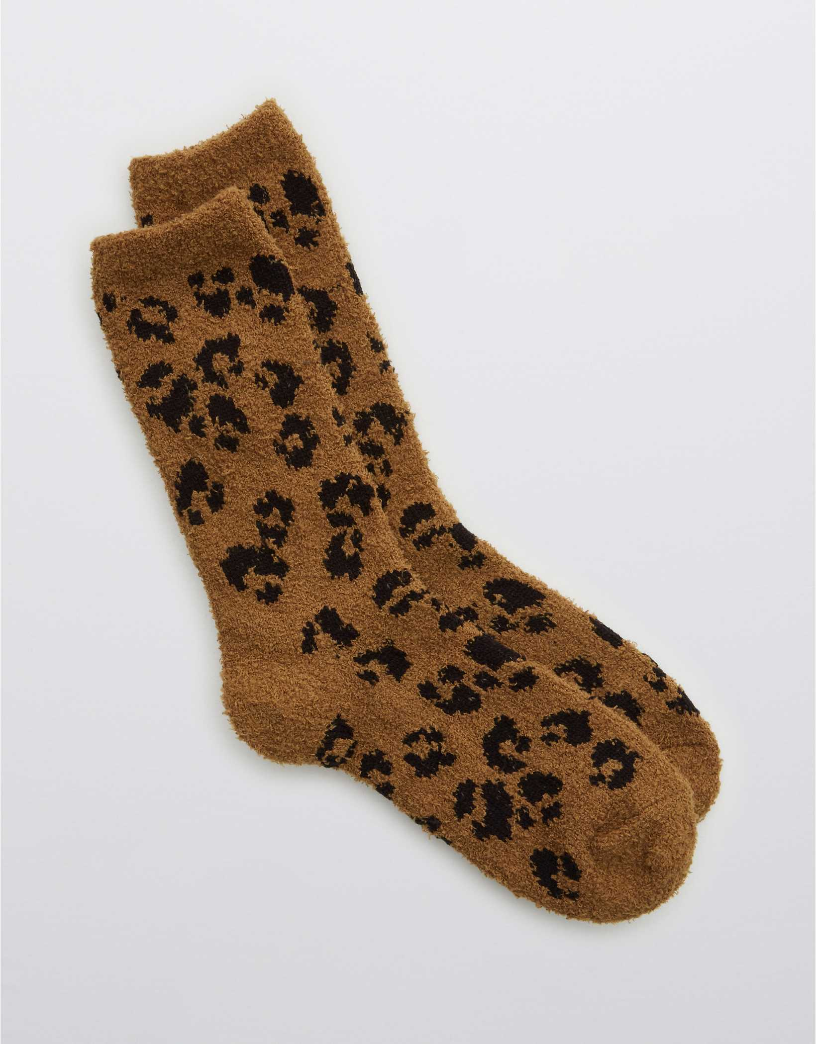 Aerie Fuzzy Animal Crew Socks