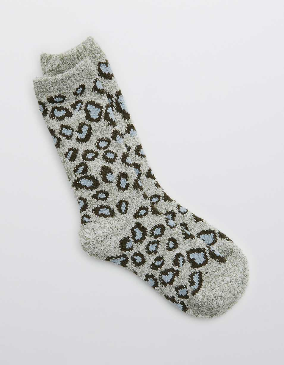 Aerie Fuzzy Animal Crew Socks