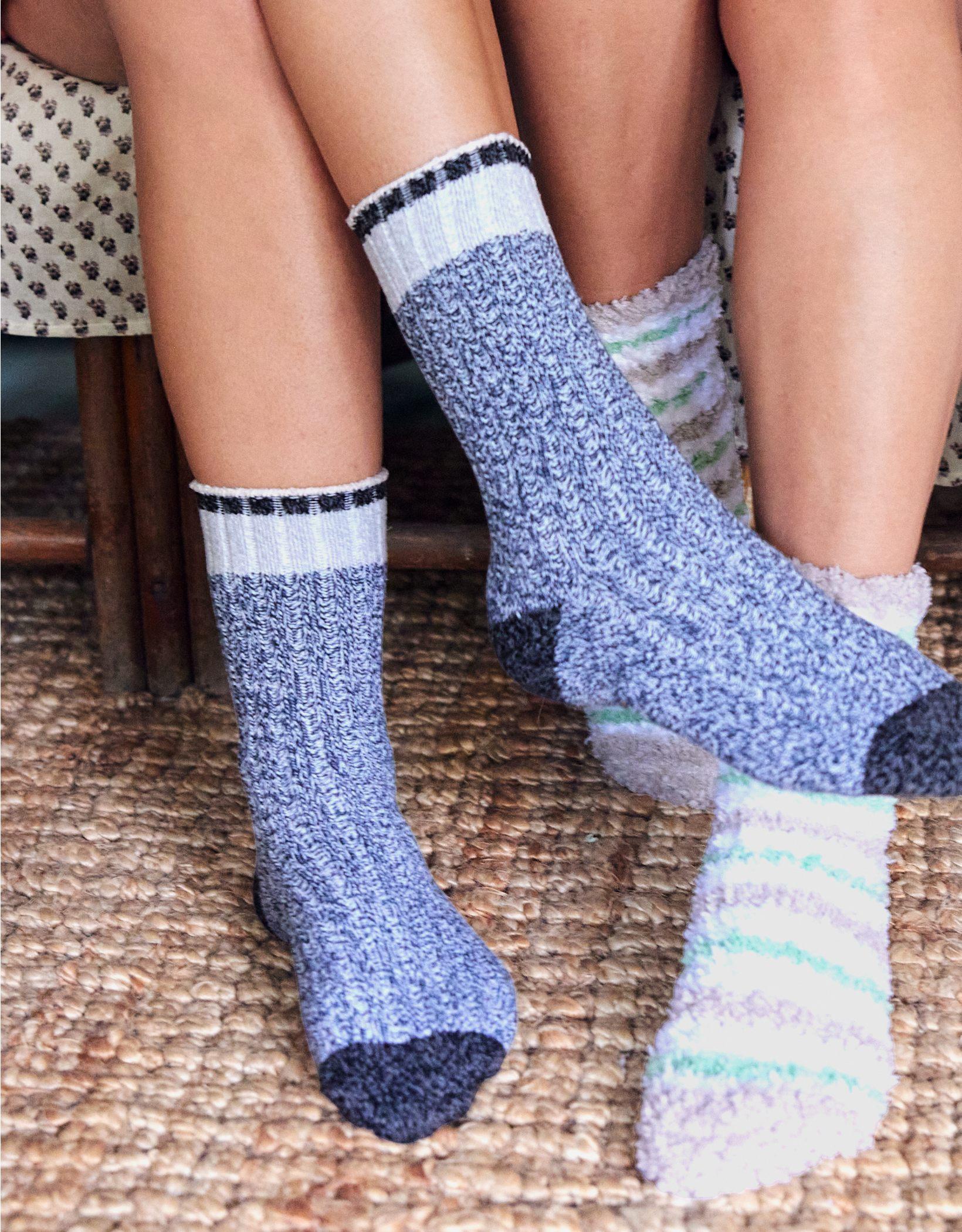 Aerie Fuzzy Crew Socks