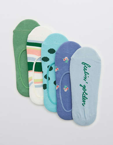 Aerie Cotton No Show Sock 5-Pack