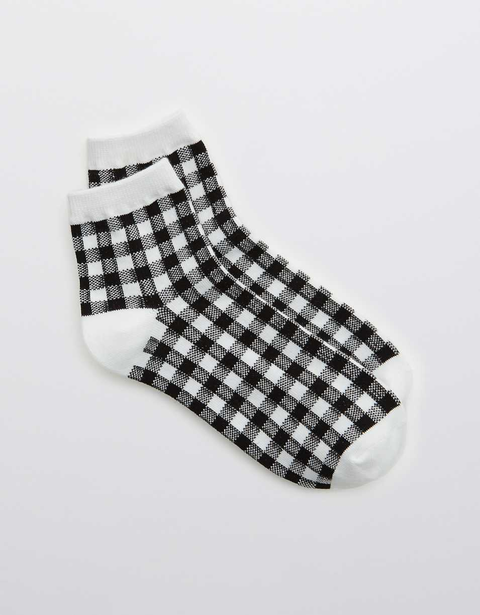 Aerie Gingham Bobby Socks