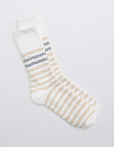 Aerie Cozy Striped Crew Socks