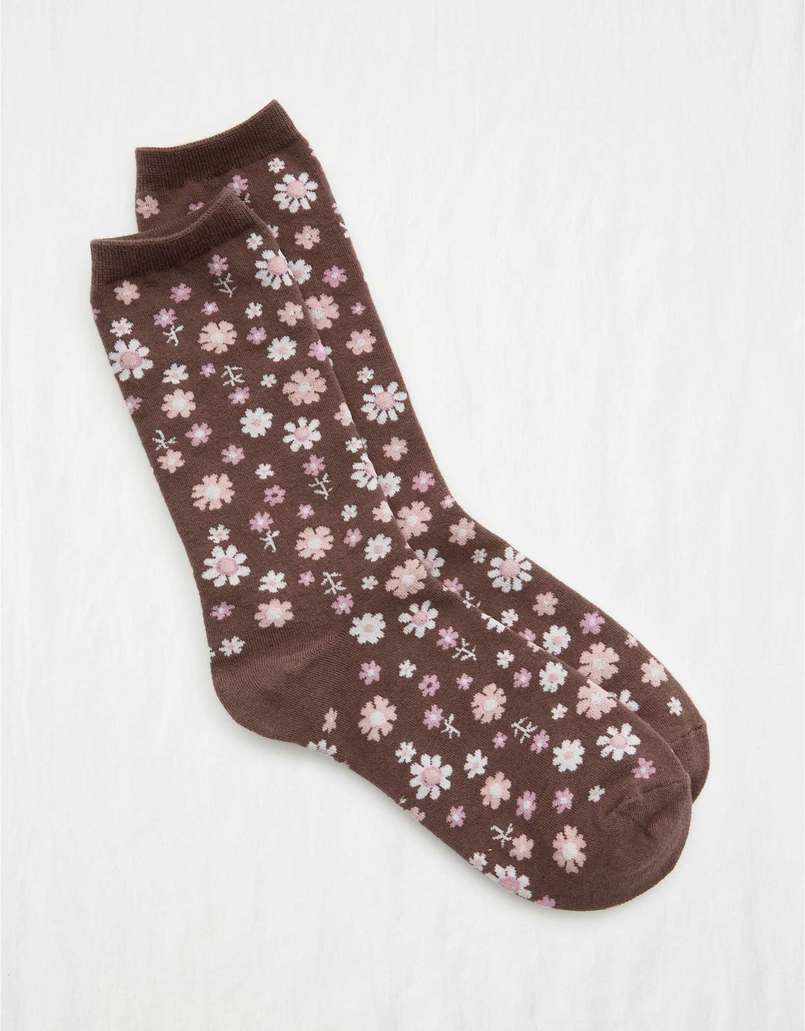 Aerie Floral Crew Socks
