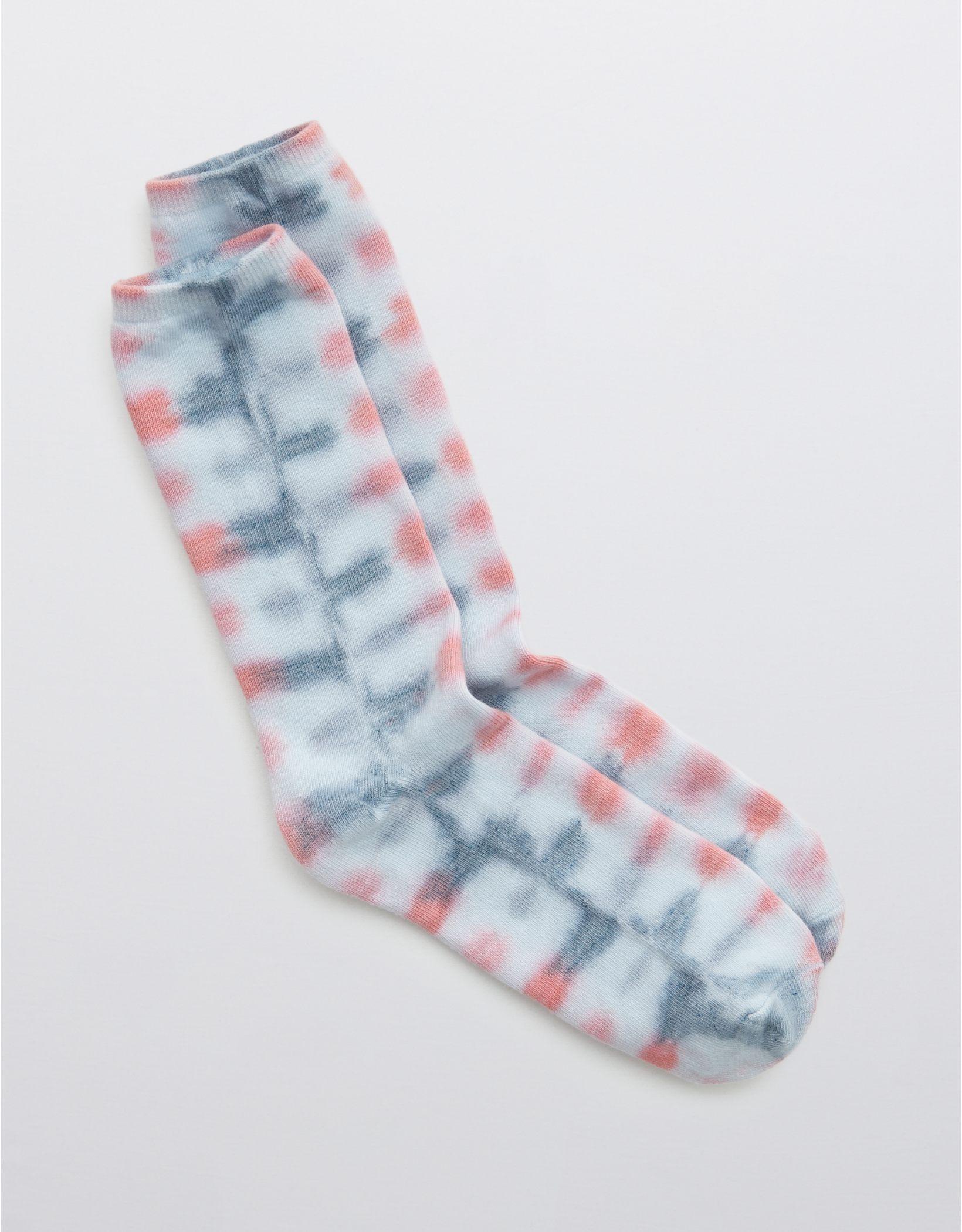 Aerie Tie Dye Crew Socks