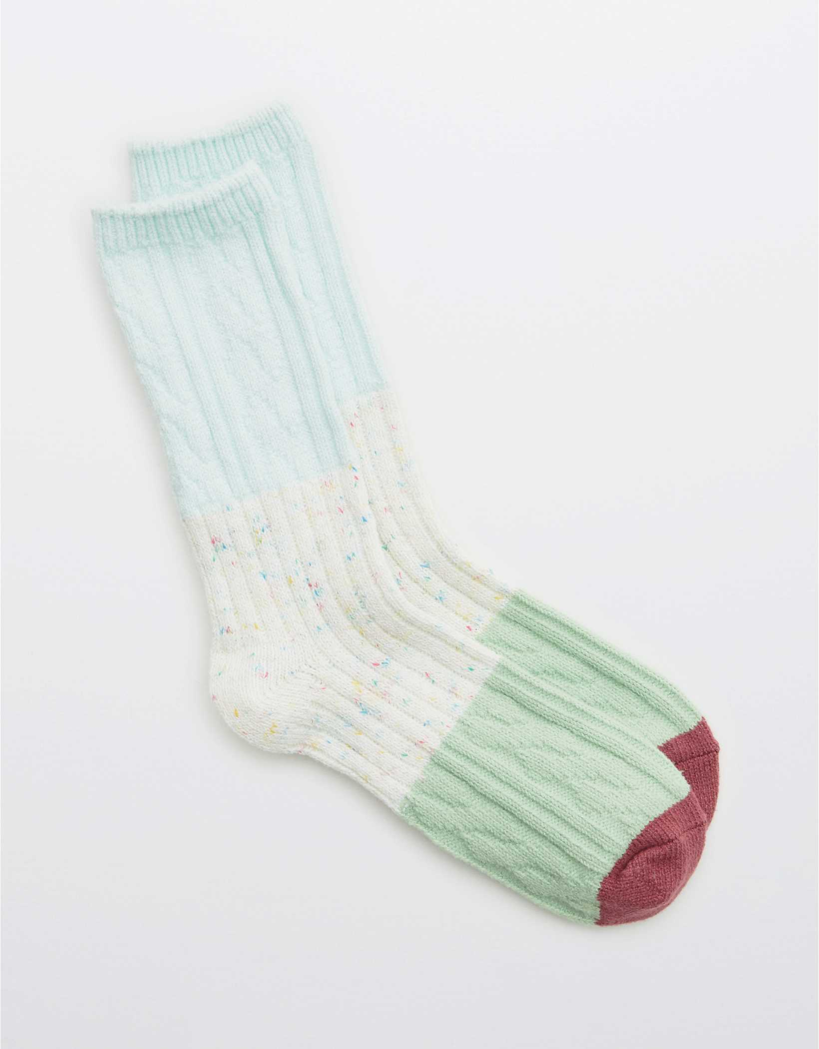 Aerie Colorblock Crew Socks