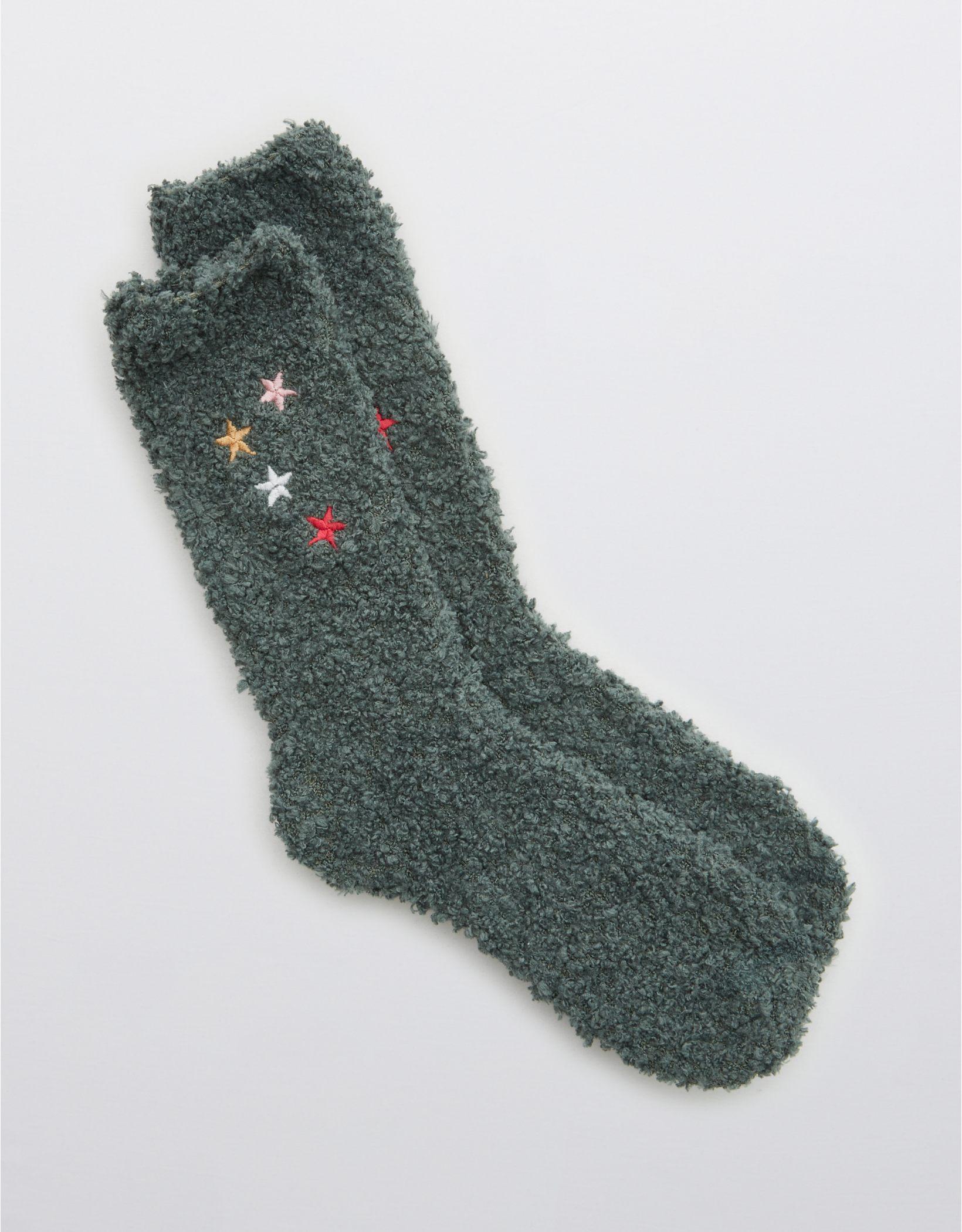 Aerie Embroidered Crew Socks
